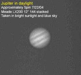 Jupiter in the afternoon.